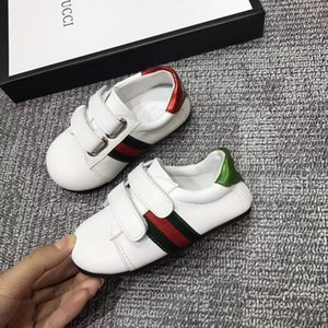 2018 New Luxury Designer baby shoes Stripe Embroidery girls boys baby comfortable brand kids shoes for 1-3 years with box on Sale