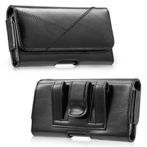 Wholesale Luxury Universal Holster Belt Clip Waist Man Flip PU Leather Cover Bag Phone Case For iPhone Plus