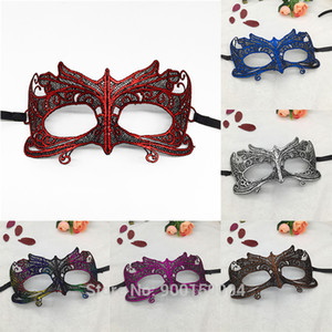 Wholesale Masquerade Gold Purple Blue Lace Face Mask Halloween Costume Accessories Prom Party Mask Accessories Halloween