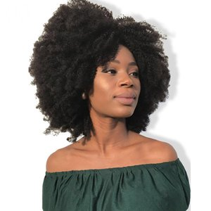Afro Kinky Curly Lace Front Wig With Baby Hair Brazilian Virgin Short Human Hair Wigs Pre Plucked Full Natural Wig on Sale