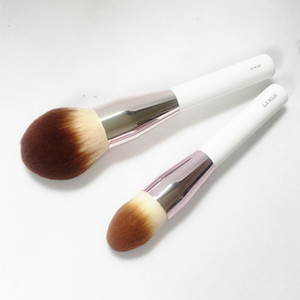 Wholesale beauty blender brushes for sale - Group buy LA MER POWDER FOUNDATION BRUSH Soft Synthetic Hair Large Powder Flawless finish Beauty Makeup Brushes Blender
