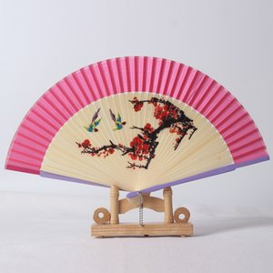 Wholesale Quality holiday parties souvenir gifts fabric folding fans classical Chinese style fans