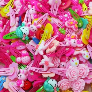 Wholesale 50pcs cartoon kids hair jewelry flower BB clip girls lovely hairpins kinds of flower pattern butterfly shaped hairpins