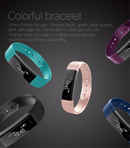 Smart bracelet ID 115 bluetooth fitness tracker step counter activity monitor with alarm clock vibrate wrist band iOS Android phone on Sale