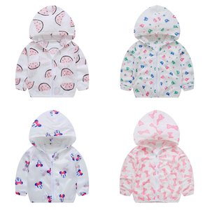 Newest Summer Jackets Children Sun-proof Coats Girls Fruits Animals Cute Sun Clothes Kids Sun-protective Summer Thin Outerwear on Sale