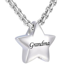 Wholesale stainless steel star pendants for sale - Group buy Fashion jewelry Memorial Jewelry Small dad and mom Star Charm Cremation Urn Pendant Ashes stainless steel Memorial Necklace