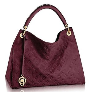 huweifeng3 M43257 2019 ARTSY MM Embossed burgundy Real Caviar Lambskin Le Boy Chain Flap Bag HANDBAGS SHOULDER MESSENGER BAGS TOTES