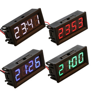 Wholesale 0 quot Digital Electronic Clock Temperature Voltage Meter LED V V v v Car