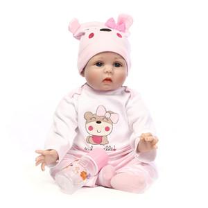 """55cm Silicone Vinyl Reborn Baby Doll Toys Lifelike Soft Cloth 22"""" Newborn babies Doll Reborn Birthday Gift"""