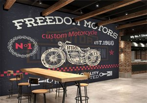 fondo de pantalla de la motocicleta al por mayor-Custom d Wall Photo Mural Wallpaper NO Freedom Motocicleta d wallpaper Murales para Restaurante Papel de pared d papel pareder