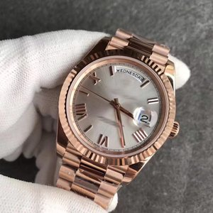 Wholesale 2019 New hot sale K Rose Gold strap Mens Watches Day White face President Automatic Watches MEN