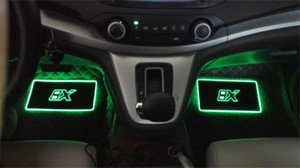 Wholesale 4pcs Car Interior Atmosphere Lamp Floor Mats LED Decorative Lamp APP control Colorful flashing Light RGB With Remote