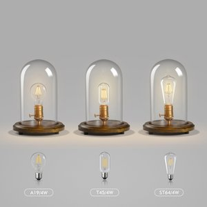 Wholesale Retro Edison Bulb Glass Table Lamps Bedroom Bedside Decorative Desk Lamps Lights Office Lighting Decorative Table Lamp Luminaire