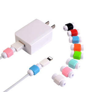 Wholesale Retail Bag USB Cable Protector Earphone Cord Protection Wire Cover Mobile Phone Charger Cord Protector Silicone For IPhone Line Protective