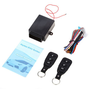 Wholesale Universal Car Auto Remote Central Kit Door Lock Locking Vehicle Keyless Entry System New With Remote Controllers Car alarm Sys