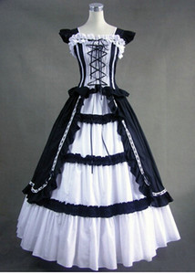 Wholesale drop shipping Gothic Lolita dress princess dress cosplay tailor Victorian size S XL custom made costume