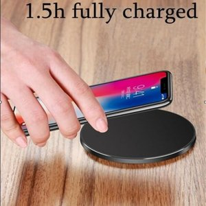 Wholesale 2018 New V A V A Fast Quick Qi Charger wireless charger charging For Samsung Galaxy S7 Edge S8 Plus Note Iphone X with Package