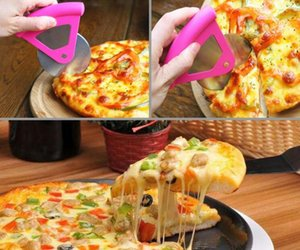Wholesale New Stainless Steel Pizza Cutter Round Shape Pizza Wheels Cutters Cake Bread Knife Cutter Pizza Tools