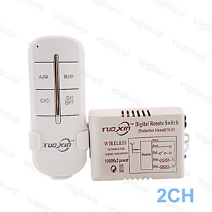 Wholesale Switch Receiver CH Way V For LED Ceiling Panel Lamps Bulbs Digital RF Remote Controller Wireless Transmitter Plastic DHL