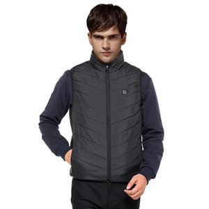 Wholesale heating vest resale online - Winter Coat Men s Lightweight Insulated Heated Vest USB Heating Sports Waistcoat Down Vest Usb Charging Jacket Men Plus Size