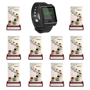 SINGCALL bell wireless service, 1watches brand watch, 10 table bell for shop restaurant