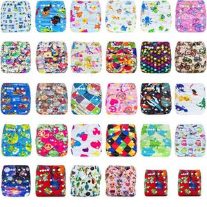 Wholesale 26 styles Infant cartoon print adjustable Diapers Cover Cloth Breathable Reusable Leakproof baby Diaper Covers pants kids Bread pants