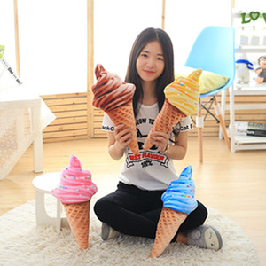 Sofa Decor Throw Pillows Plush 3D Back Cushion Cute Cartoon Ice Cream Pillow Multi Color 6as C R on Sale