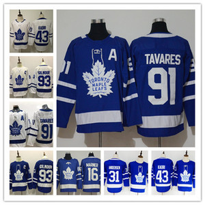 John Tavares A Patch Toronto Maple Leafs Jersey 34 Auston 93 Doug Gilmour 16 Mitchell Marner William Nylander Hockey Jersey Andersen Kadri on Sale