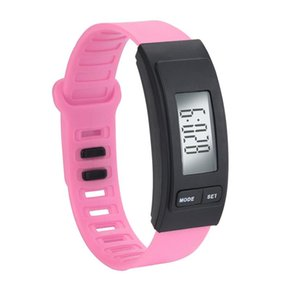 Run Step Watch Bracelet Pedometer Calorie Counter Digital LCD Walking Distance 2018 casual watches mens watches top brand luxury