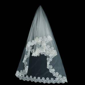 Wholesale Special bride wedding veil three meters long mopping lace lace American mesh white Bridal Veils