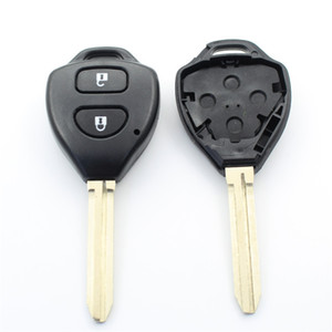 10Pcs lot For Toyota Corolla Rav4 2Button Transponder Remote Key Shell With Logo S38