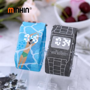 Wholesale New Design LED Paper Watches For Women Fashion Waterproof Universal Electronic Watch Mens Creative Outdoor Watch