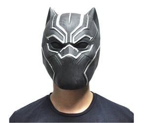 Wholesale Black Panther Masks Movie Fantastic Four Cosplay Men s Latex Party Mask for Halloween