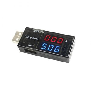 Wholesale USB Charger Detector Current Voltage Power Tester Dual Digital Display Volt Amp Meter For Android Phone And iPhones QJY9