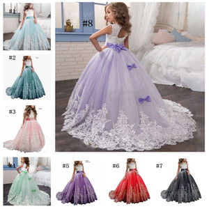 2019 Tulle Custom Cute Little Girl Flower Girl Dress Sleeveless Floor Length Hand Made Kids Party Birthday Dress