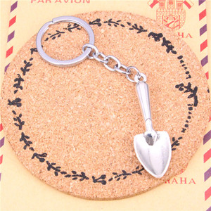 Wholesale Keychain shovel spade trowel gardening Pendants DIY Men Jewelry Car Key Chain Ring Holder Souvenir For Gift