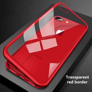 Wholesale Cell Phone cases for iphone x new clamshell Cases magnetic solid color ultra thin transparent for iphone Plus S