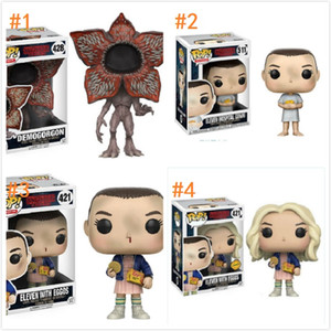 Stranger Things Funko POP Movie Anime Action Figure Demogorgon Eleven with Eggos Animation 10CM 4inch figure models box packages by boomboom