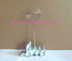 Wholesale table wedding decorations resale online - Party favors of Pearl White Love Place Card Photo Holders For Love wedding table decoration gifts and seat holder