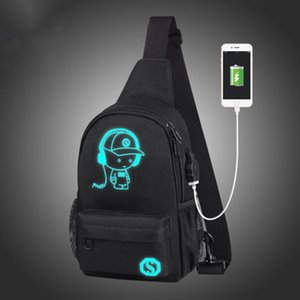 Wholesale Reether Glow In The Dark Crossbody Chest Bag Luminous Shoulder Bag For Man Unbalance Sling Pack