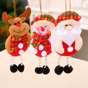 Wholesale 2018 christmas tree ornaments pendants Santa Claus Snowman bear Tree Toys Hang Decorations for home party Christmas Decorations