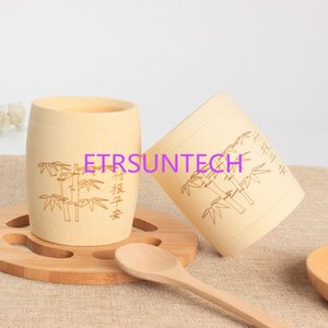 Wholesale Natural Bamboo Vintage Tea Cups Mini Drinking Coffee Cups For Chinese Kung Fu Tea Set Craft Novelty Gift QW8113