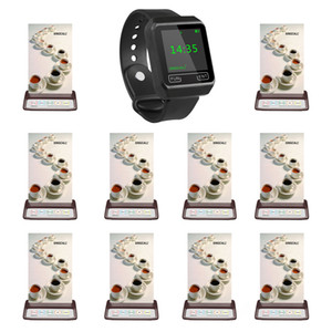 SINGCALL restaurant calling system,1 brand watch and 10 pcs call buttons for coffee shop