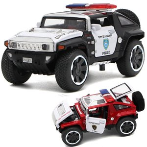 Wholesale 1 32 Scale Hummer Police Car Diecast Vehicles Alloy Model Cars