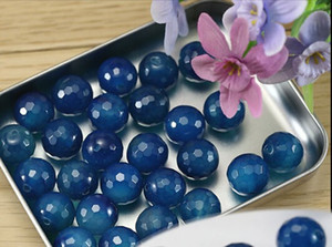 Wholesale Approx cm pack mm mm mm Precious Stone Natural Blue Faceted Blue Onyx Beads Beads Stones Necklace Bracelet DIY F1630