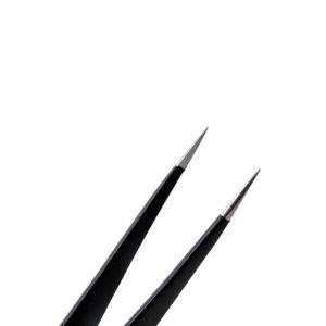Stainless Steel Anti-static Tweezers Set Anti-Magnetic Electronic Mobile Phone Repairing Make Up Beauty Tools Kit Soldering Welding Tweezers