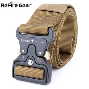 Wholesale ReFire Gear Military Equipment Quick Release Army Belt Men Heavy Duty Combat Tactical Belts Durable Nylon Strap Waist Belt cm