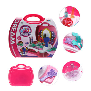 Wholesale baby dresser resale online - Simulation Cosmetic Case Baby Kids Girls Makeup Tool Kit Box Children Pretend Play House Toy Chic Dresser