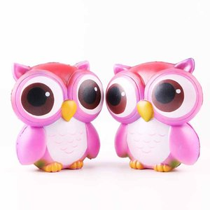 Wholesale hot sale Owl Squishies Kawaii Owl Squishy Toys Soft Slow RisingPhone Strap Squeeze Break Kid Toy Relieve Anxiety Christmas Gift Free