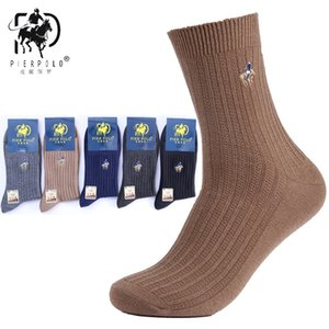 Wholesale High Quality Brand New Pairs Big Size Crew Socks Classic Business Embroidery Merino Wool Socks Warm Autumn Winter Men s Socks